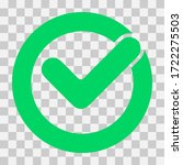 check mark vector icon.... | Shutterstock .eps vector #1722275503