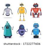 humanoid robotic machine set.... | Shutterstock .eps vector #1722277606