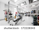interior of new modern gym with ... | Shutterstock . vector #172228343