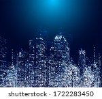 raster version of modern city... | Shutterstock . vector #1722283450