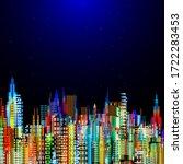raster version of modern city... | Shutterstock . vector #1722283453