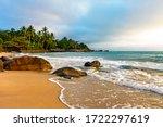Tropical beach on the island of Ilhabela north coast of Sao Paulo, Brazil