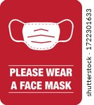 please wear a face mask... | Shutterstock .eps vector #1722301633