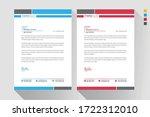 modern business style letter... | Shutterstock .eps vector #1722312010