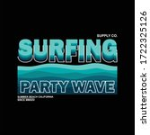 party wave surfing supply co... | Shutterstock .eps vector #1722325126