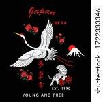 crane bird vector illustration. ...   Shutterstock .eps vector #1722333346