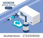 vaccination service with... | Shutterstock .eps vector #1722335020