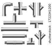 steel pipe fittings. plumbing ... | Shutterstock .eps vector #1722341200