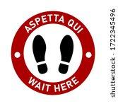 bilingual italian and english... | Shutterstock .eps vector #1722345496