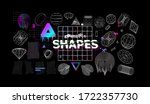 universal modern shapes with... | Shutterstock .eps vector #1722357730