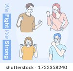 cheerful man and women are...   Shutterstock .eps vector #1722358240