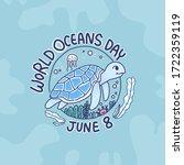 world oceans day concept design ... | Shutterstock .eps vector #1722359119