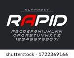 futuristic alphabet design ... | Shutterstock .eps vector #1722369166