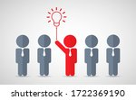 think differently standing out... | Shutterstock .eps vector #1722369190