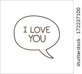 bubble with declaration of love.... | Shutterstock . vector #172237100