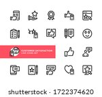 customer satisfaction vector... | Shutterstock .eps vector #1722374620