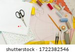 sewing medical mask at home... | Shutterstock . vector #1722382546