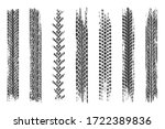 tire mark. car and motorcycle... | Shutterstock .eps vector #1722389836