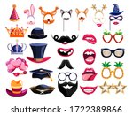 photo booth props. birthday... | Shutterstock .eps vector #1722389866