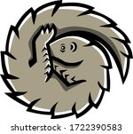 mascot icon illustration of a... | Shutterstock .eps vector #1722390583