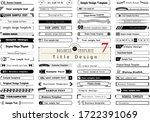 business template. title design ...   Shutterstock .eps vector #1722391069