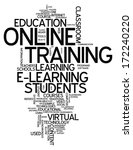 word cloud with online training ... | Shutterstock . vector #172240220