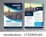 flyer business template with... | Shutterstock .eps vector #1722405160