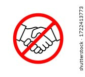 no handshake icon vector...   Shutterstock .eps vector #1722413773