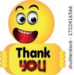 happy emoji emoticon holding a... | Shutterstock .eps vector #1722416566