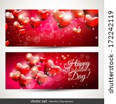 set of two horizontal valentine'... | Shutterstock .eps vector #172242119