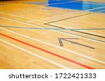 School Gym Court Lines And...