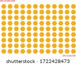 hexagon pattern. yellow color.... | Shutterstock .eps vector #1722428473