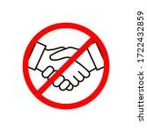 no handshake icon vector... | Shutterstock .eps vector #1722432859