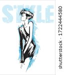 beautiful young woman in modern ...   Shutterstock .eps vector #1722444580