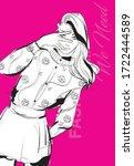 beautiful young woman in modern ...   Shutterstock .eps vector #1722444589