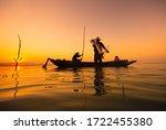 Fisherman Asia Silhouette...