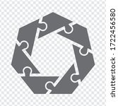 simple icon polygonal puzzle in ...
