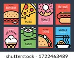 vector fast food background... | Shutterstock .eps vector #1722463489