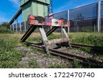 Wooden Buffer Stop With Red...