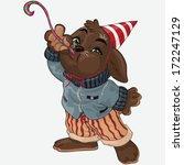 vector illustration  party... | Shutterstock .eps vector #172247129