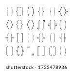 braces frame set. curved... | Shutterstock .eps vector #1722478936