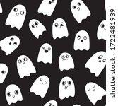 halloween seamless pattern.... | Shutterstock .eps vector #1722481939