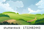 Summer Landscape. Vector...