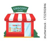 grocery shop front. store... | Shutterstock .eps vector #1722502846