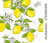 lemon tree branch with yellow... | Shutterstock .eps vector #1722505339