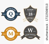 set of retro vintage badge logo ... | Shutterstock .eps vector #1722508513