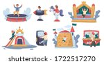amusement park  children ride... | Shutterstock .eps vector #1722517270