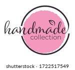 handmade collection label or... | Shutterstock .eps vector #1722517549