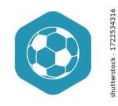 soccer ball icon. the ball for... | Shutterstock .eps vector #1722534316