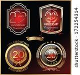 anniversary red label  set | Shutterstock .eps vector #172254314